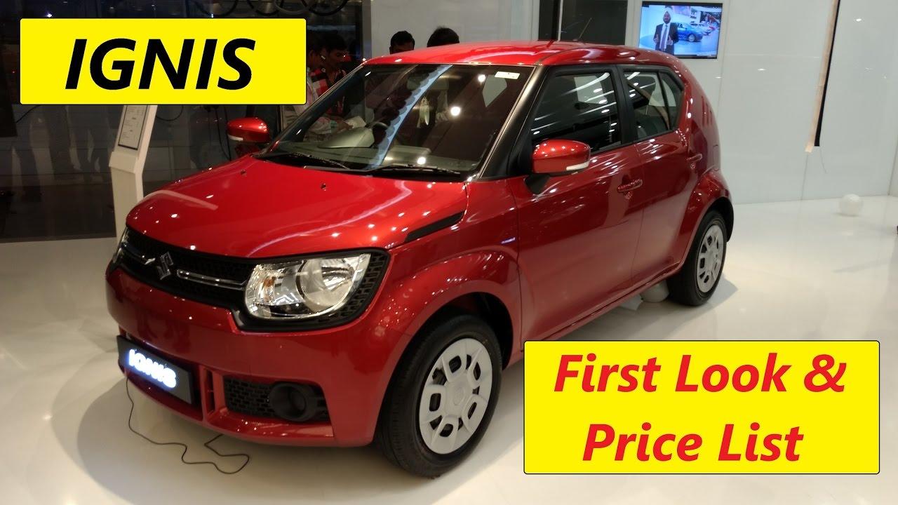 Maruti Suzuki Ignis First Look On Road Prices Pune Youtube