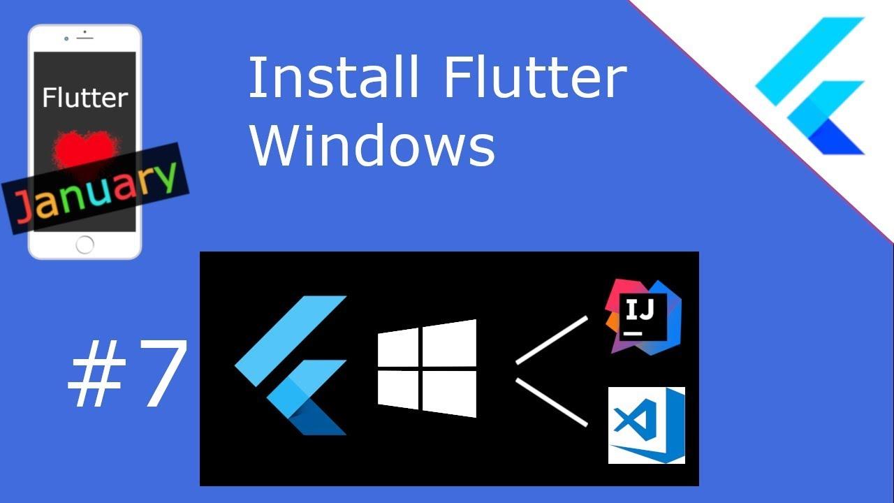 Install Flutter - and Intellij / VSCode / AndroidStudio as IDE (for Windows)