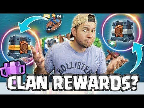 CLAN REWARDS - HOW they work! - Clash Royale - First War BATTLE!