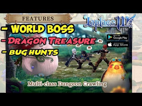 World BOSS , Bug Hunts & Dragon Treasure !!! Laplace M (SEA) Cleric Gameplay Android - 동영상