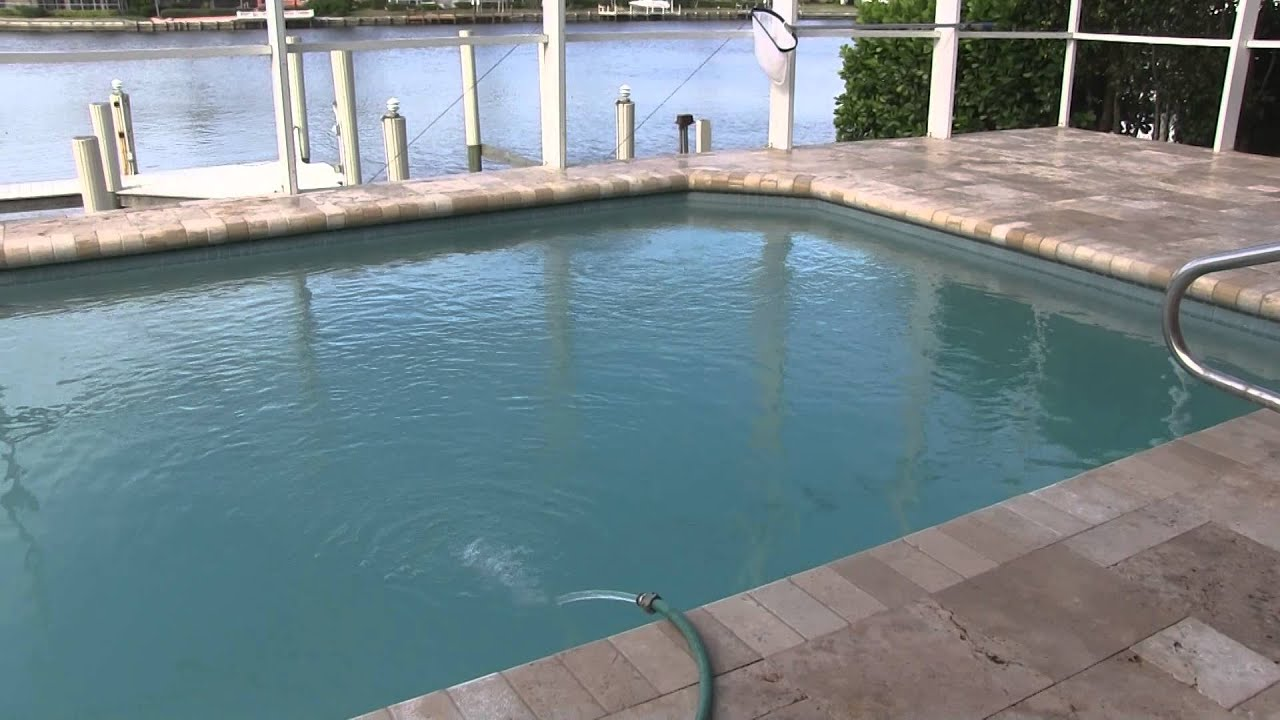 Travertine Pool Deck Travertine Pool Deck Installation  Youtube
