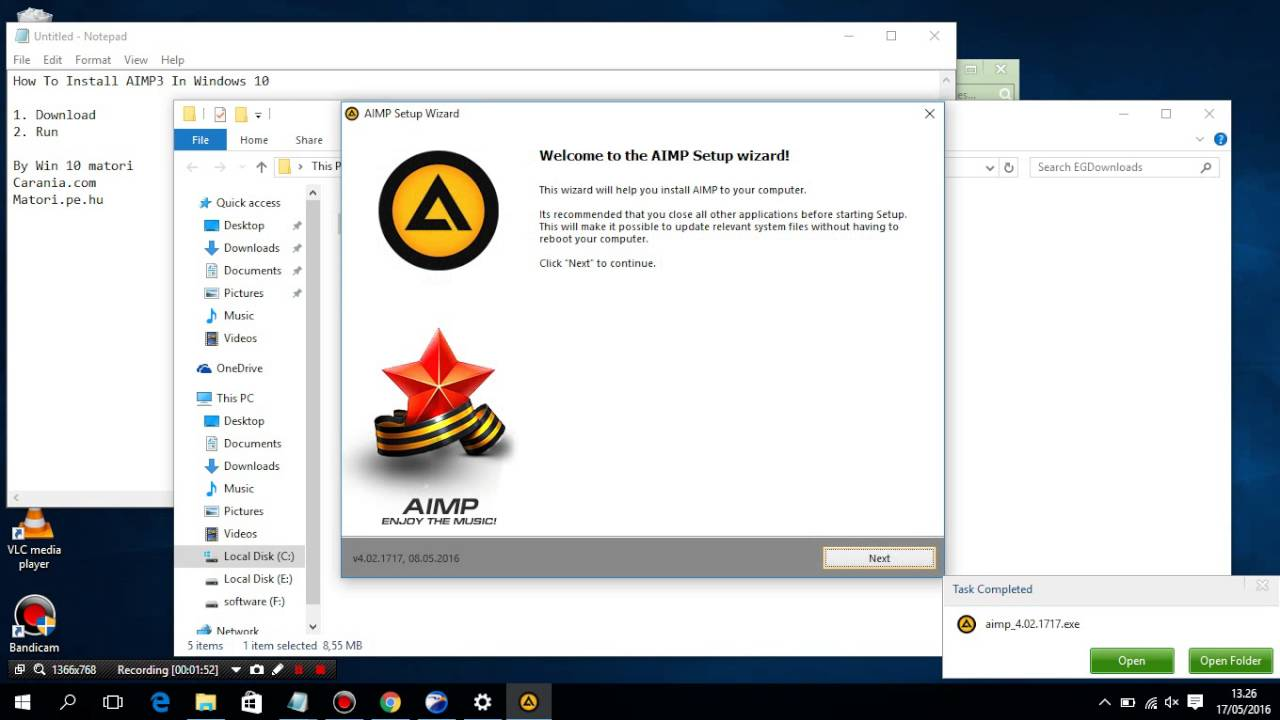 How To Install AIMP3 In Windows 10