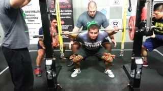 Albert Ozdil squats 260kg x 3 PTC