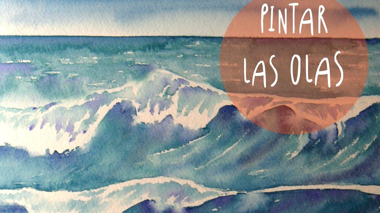 Tutorial Acuarelas Como Pintar Las Olas Del Mar Super Facil Art