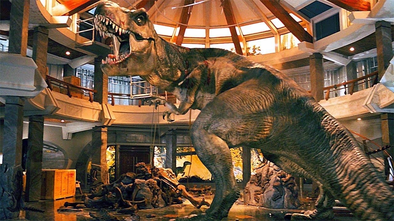 T-Rex vs the Raptors Scene - Jurassic Park (1993) Movie Clip HD