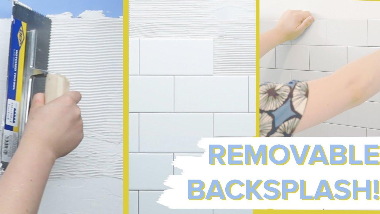 Removable Tile Backsplash For Ers