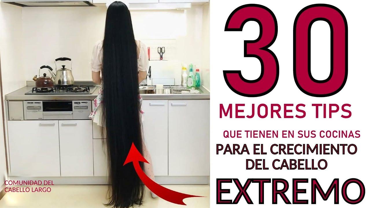 😱👉LOS 30 MEJORES TIPS PARA EL CRECIMIENTO DEL CABELLO EXTREMO QUE ESTAN EN TU COCINA!😘