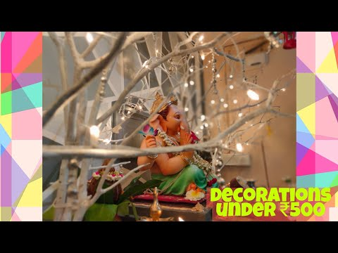 How to make Ganapati decoration | home made decoration | decoration below Rs.500