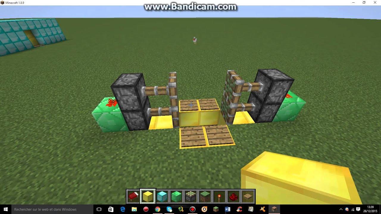 Tuto Porte Automatique Minecraft Youtube