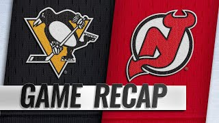 Hall records four points in Devils' 4-2 win vs. Pens
