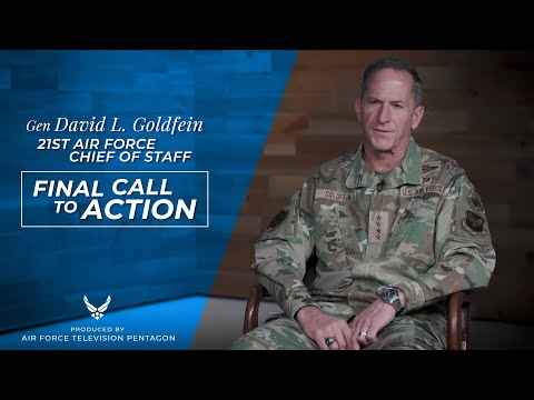 CSAF21 Gen Goldfein and Spouse - Final Call To Action