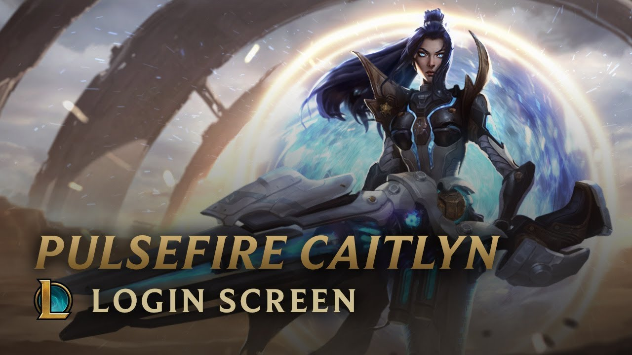 Pulsefire Caitlyn Login Screen League Of Legends Youtube