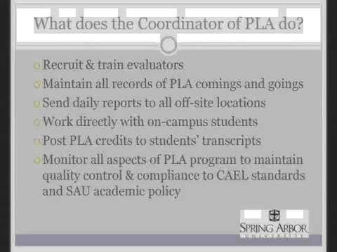 Adult Learning Consortium PLA Overview and Examples 4
