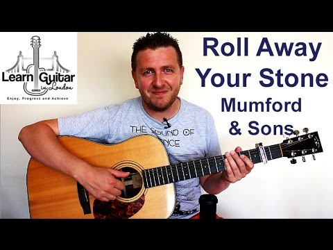 Mumford & Sons - Roll Away Your Stone - Guitar Tutorial - Intro - Drue James