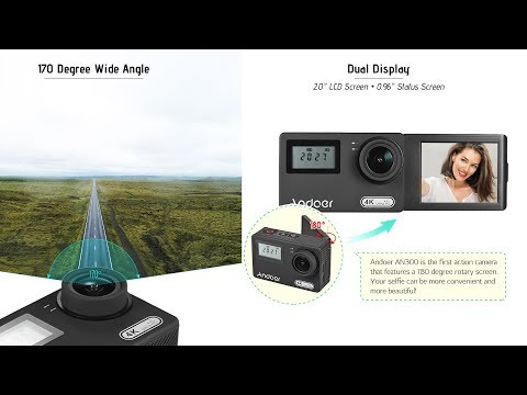 The First 4K WiFi 16MP Action Camera With A Rotary LCD Screen