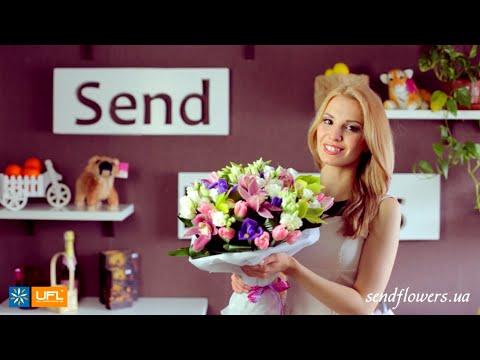 Букет Зеленый сад - орхидеи - букет для девушки - доставка цветов Киев u-f-l.net