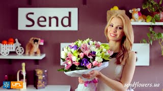 Букет Зеленый сад - орхидеи - букет для девушки - доставка цветов Киев sendflowers.ua(, 2014-08-01T13:55:36.000Z)