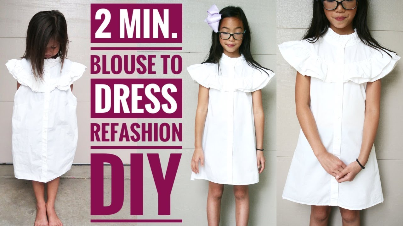 Blouse To Dress Refashion How Upcycle Clothes