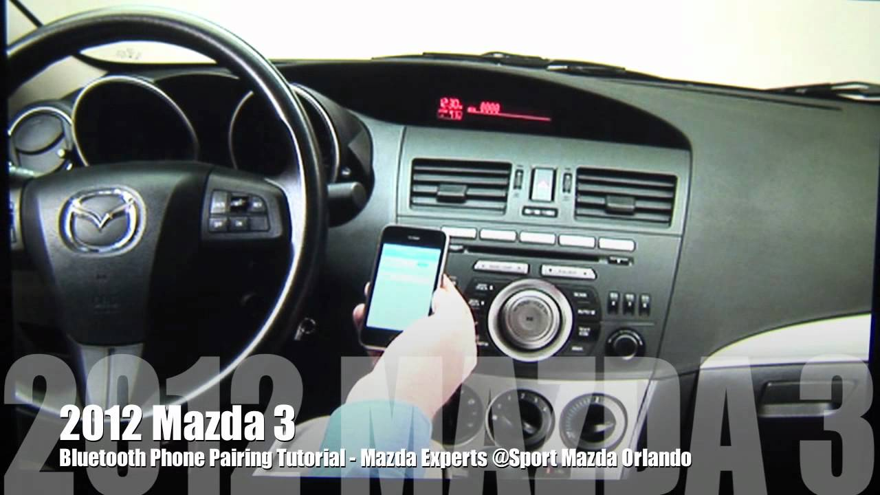 2012 Mazda 3 Bluetooth Setup Youtube