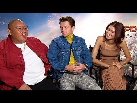SPIDER-MAN FAR FROM HOME Tom Holland, Zendaya & Jacob Batalon Interview