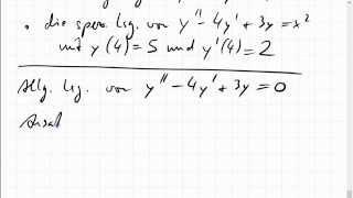 09C.2 inhomogene lineare Differentialgleichung 2. Ordnung mit konstanten Koeffizienten
