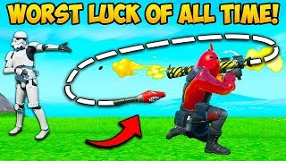 *UNLUCKIEST* MOMENT OF ALL TIME!! - Fortnite Funny Fails and WTF Moments! #744