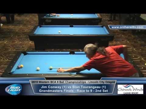 Jim Conway vs Stan Tourangeau - Grandmasters Finals - Set 2 - 9 Ball
