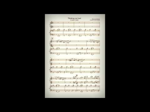 Ed Sheeran: Thinking out loud (Piano Duet: 4 hands) Sheet music link
