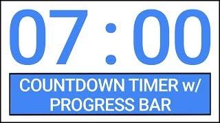 7 min Countdown Timer w/ Progress Bar #Timer #Countdown