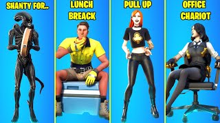 Top 25 Legendary Fortnite Dances & Emotes! #1 (Shanty for a Squad, Lunch Break, Office Chariot)
