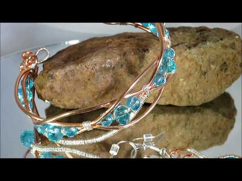 Copper, sterling silver and crystal jewellery from Genie Beader