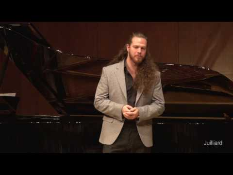 Cody Quattlebaum, bass-baritone & Michał Biel, piano |  Juilliard Stephanie Blythe Master Class