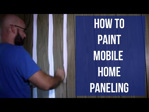 How to Paint Mobile Home Paneling