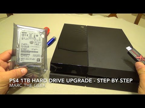 PS4 1 Terabyte Hard Drive Upgrade - Step By Step