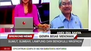 Berita Terbaru Gempa Bumi Di Kepulauan Mentawai Sumatra Barat 8,3 SR, Berpotensi Tsunami