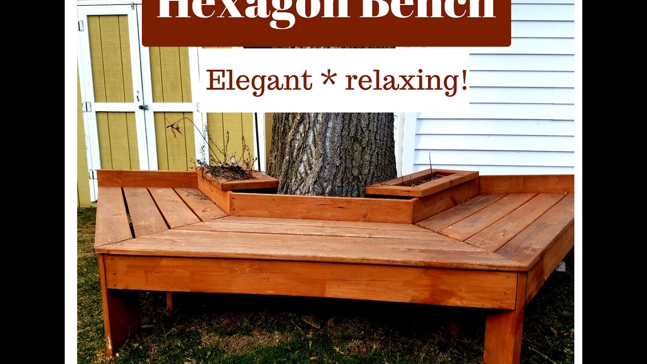 Hexagon Bench Around A Tree Way Woodworking