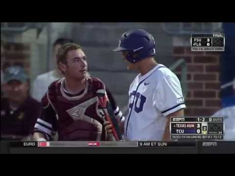 Catcher's Mask Explodes From Foul Ball