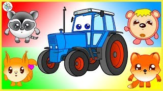Traktor Bo und Kinder. Ein großes Geheimnis. Trickfilm. Tractor Bo. Kids. Cartoon.