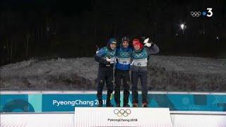 JO 2018 - Biathlon hommes : Martin Fourcade sur la plus haute marche du podium