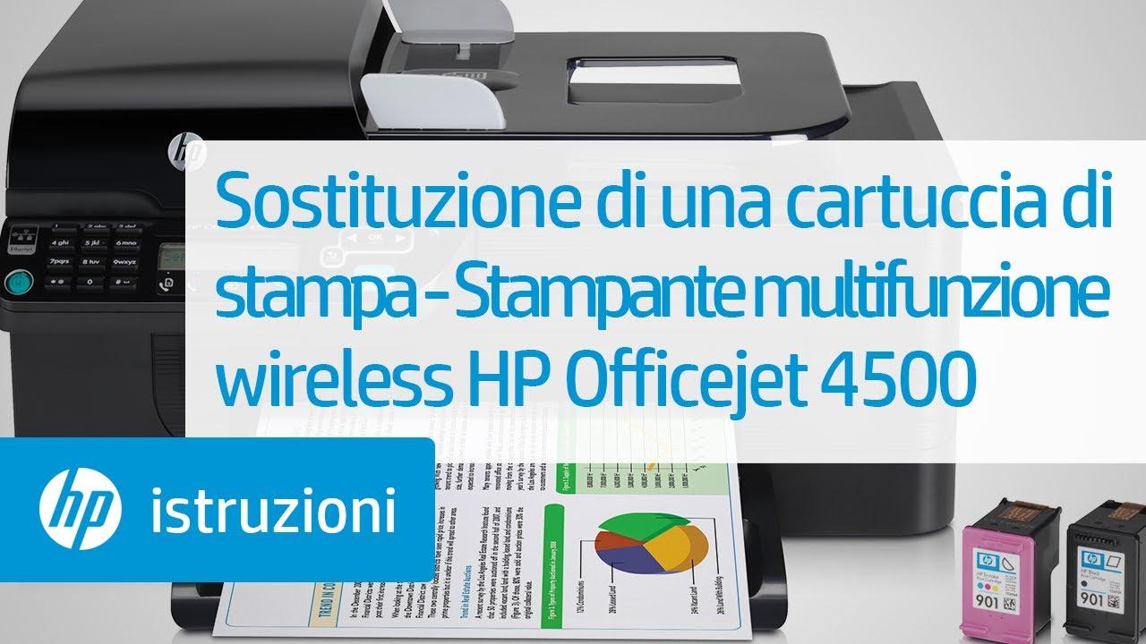 sostituzione di una cartuccia di stampa stampante multifunzione wireless hp officejet 4500. Black Bedroom Furniture Sets. Home Design Ideas