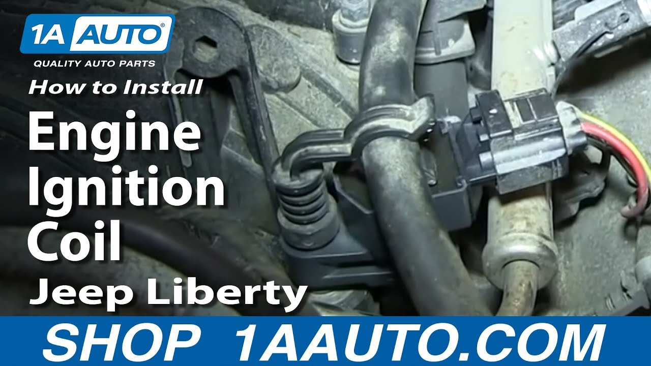 small resolution of how to install replace engine ignition coil 2002 08 3 7l jeep liberty
