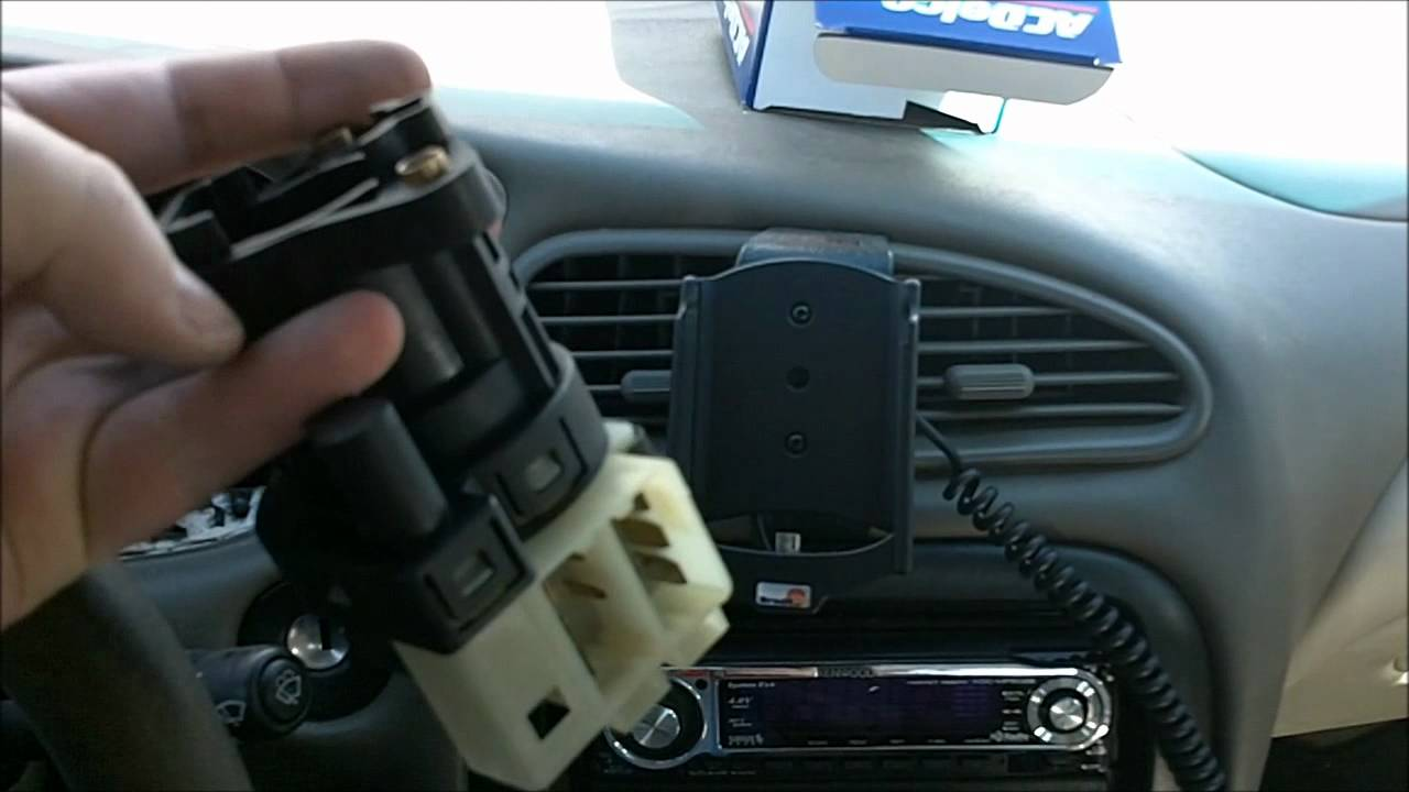 How to replace an ignition switch in a Oldsmobile Alero  YouTube