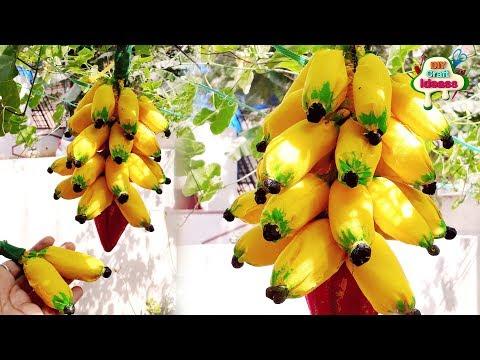 How To Make Banana    Banana Art   Bananas With Banana Flower Diy   Diy Craft Ideas