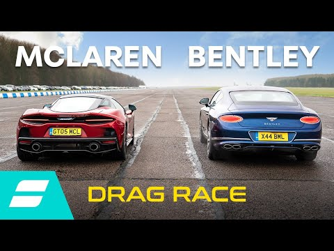 Drag Race: McLaren GT vs Bentley Continental GT V8