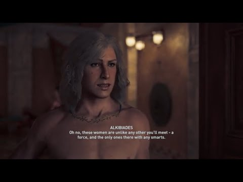 Assassin's Creed Odyssey-  Alexios Gay Romance with Alkibiades