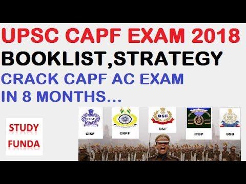 CAPF AC EXAM 2018 BOOKLIST,STRATEGY,STUDY MATERIAL