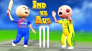 3D ANIM COMEDY CRICKET || INDIA VS AUSTRALIA || 2ND ODI || LAST OVER