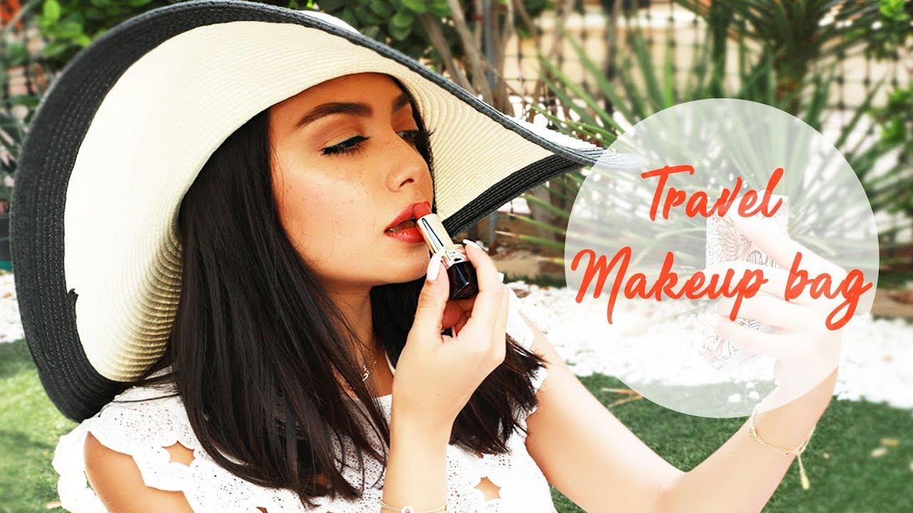 97c3883d8120 What s in my travel makeup bag with Ghalia Mahmoudi