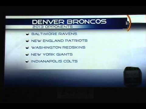 Denver Broncos 2013 Season Opponents
