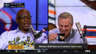 Eric Dickerson says Belichick  Khalil Mack not in Lawrence Taylor's class   The Herd 10 19 18